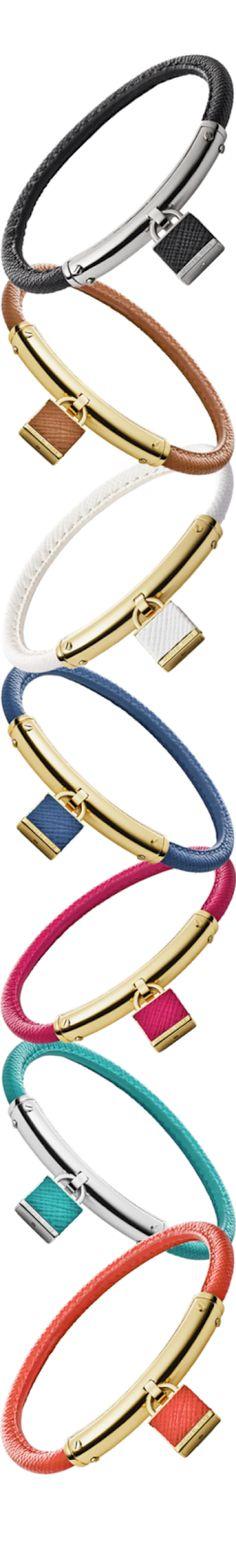 Michael Kors Leather Padlock Bracelet  | The House of Beccaria#