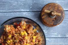 Mediterrán paradicsomos couscous saláta Couscous, Grains, Rice, Food, Essen, Meals, Seeds, Yemek, Laughter