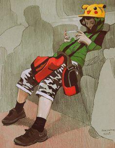 """Ермакова Анастасия  Зарисовки серии """"Жизнь города"""" (бумага тонированная, цветные карандаши, темпера)"""