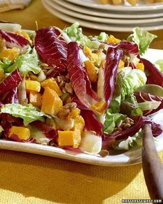 Decomposed Salad - Although it sounds scary, this salad is nothing more than a seasonal mix of autumn produce: butternut squash, pumpkin seeds, and endive in a spiced vinaigrette.