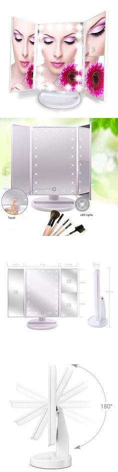 Makeup Mirrors: Artifi Lighted Makeup Mirror With 21 Led Lights, Touch Screen Cosmetic Mirror -> BUY IT NOW ONLY: $42.27 on eBay!