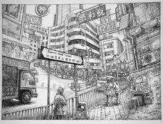 Hong Kong Queen's Road by LotharZhou