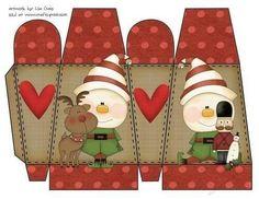 Winter Box Printable 7 by Lisa Craig Winter Box Printable Winter Box Printable 7 Christmas Makes, Christmas Crafts For Kids, Kids Christmas, Christmas Decorations, Printable Crafts, Christmas Printables, Printable Box, Box Patterns, Christmas Coloring Pages