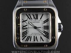 c7e11edc01b Vente et location de montres de luxe d occasion - CARTIER SANTOS 100 OR  ·  Montres De LuxeAchatRolex ...