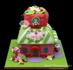 Strawberry Shortcake - by Sweet Treasures (Ann) @ CakesDecor.com - cake decorating website