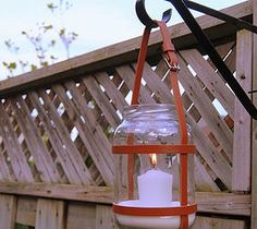 DIY Upcycled Leather Lantern - What can you do with an empty pickle jar and 3 leather belts? Mason Jar Crafts, Mason Jars, Diys, Home Crafts, Diy Crafts, Recycling, Home Decoracion, Kitchen Jars, Pickle Jars