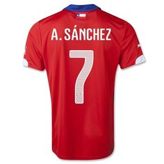 Official Alexis Jersey Chile Home 2014 Official Puma Chile Apparel Free Fedex Shipping 90 Day Return Policy Available in Adult S, M, Only World Cup 2014, Fifa World Cup, Munich, White Collar, Football Shirts, Soccer, Shopping, Html, Chili