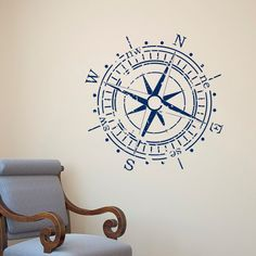 Bedroom Art, Nursery Wall Art, Vinyl Wall Decals, Wall Stickers, Boat Decals, Drawings With Meaning, Wal Art, West East, Nautical Bedroom