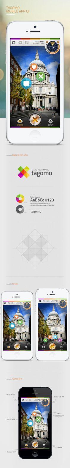 Tagomo mobile app UI by Chrome Lab , via Behance
