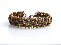 Crescent beads bracelet kacenkag / Mesiačikový hnedý mat