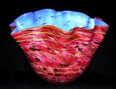 love this colour mix of soft blue...is a  Macchia Glass Sculpture 2000 by Dale Chihuly - Glass