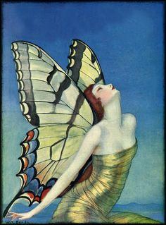Life magazine 'Butterfly' cover art by WT Benda, September 27, 1923