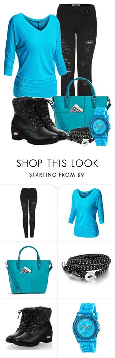 """Turquoise and Black"" by tlb0318 on Polyvore featuring 2LUV, Vera Bradley and XOXO"