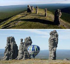 Risultati immagini per Man'pupunёr Russia, Mountains, Nature, Travel, Naturaleza, Viajes, Destinations, Traveling, Trips