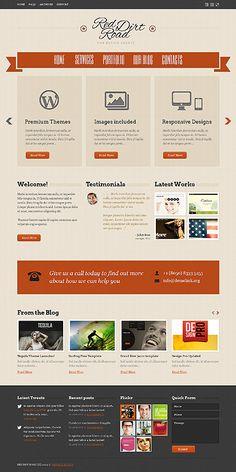 'Red Dirt' WordPress 3.x Theme #webdesign http://zign.nl/41685
