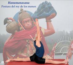 Hanumanasana. Postura del rey de los monos