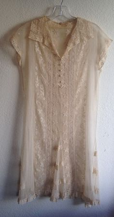 Antique Lace Victorian Dress by IIOIIOII on Etsy, $175.00