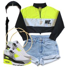 A fashion look from October 2014 featuring NIKE shoes, H&M earrings and Forever 21 necklaces. Browse and shop related looks.