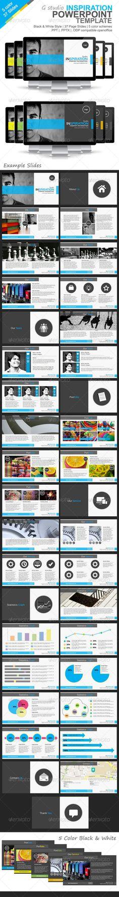 Gstudio Inspiration Powerpoint Template - Presentation Templates