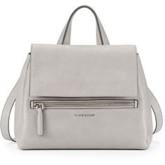 NeimanMarcus, Givenchy Pandora Small Waxy Leather Satchel Bag, Gray, ₩2,358,630 #fashion #style #bag #shopping #clothes #women #musthave