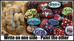 Vacations & Special Places - Find a rock for a wonderful memory keepsake! Write on one side & paint the other then display in a bowl or glass vase! Use Sharpie pens!
