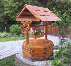 Dřevěný rumpál na studnu do prům. 120 cm