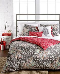 CLOSEOUT! Sunset and Vines Capri 5 Piece Comforter and Duvet Cover Sets