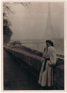 Eiffel Tower, 1940s - Found Photograph