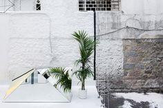 / Optimist Eyewear Store by 314 architecture studio, Chalcis – Greece Decoration Shop, Urban Village, Journal Du Design, Exposed Brick Walls, Listed Building, Mirrored Furniture, Dezeen, Shop Interiors, Design Furniture