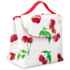 Cherries insulated #LunchBag for all your cherry snacks! www.cherryman.com