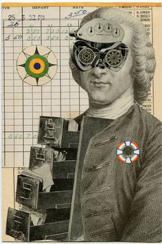 Mr. Information, 2009.  Collage by Angelica Paez.