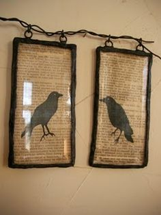 crow wall hangings