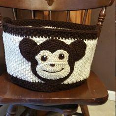 Custom Crocheted Monkey Toy Storage Basket, Big Crochet Storage Bin,  Large Storage Toy Baskets, Laundry Hamper, Home Organization by DebisHomemadeCrochet on Etsy