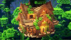 Minecraft Jungle House, Minecraft Cottage, Cute Minecraft Houses, Minecraft Mansion, Minecraft Room, Minecraft Houses Blueprints, Amazing Minecraft, Minecraft House Designs, Minecraft Projects
