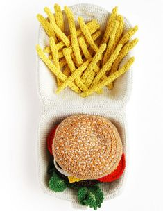 Fast Food Art Kate Jenkins Plats Crochet