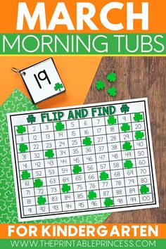 Packed full of games and interactive, hands-on activities to keep students engaged all month long, this resource includes 19 literacy and math activities with an adorable St. Patrick's Day theme. The activities make the perfect kindergarten morning tubs for March.