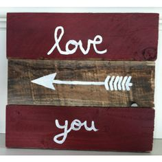 Darling wood sign for Valentine's Day or really any other day. Only $19.99 at www.brickyardbuffalo.com