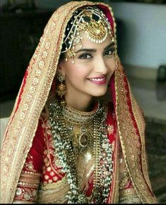Sonam Kapoor Is The Most Beautiful Bride Read Full Article. Saris, Bridal Looks, Bridal Style, Sonam Kapoor Wedding, Bollywood Bridal, Bollywood Saree, Bollywood Fashion, Bollywood Celebrities, Bollywood Actress
