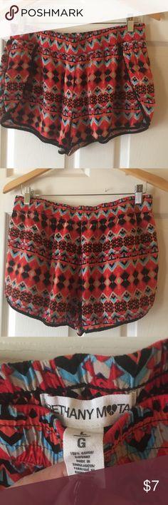 Tribal Design Shorts by Bethany Mota Tribal Design Shorts by Bethany Mota. No stains, rips or tears. Bethany Mota Shorts Skorts