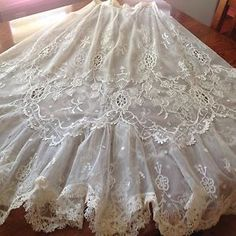 Gorgeous Antique Victorian Lady's Net Lace Skirt | eBay https://bellanblue.com
