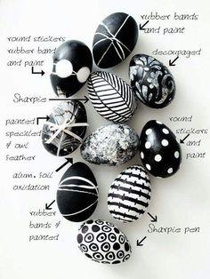 Černo bílé  vajíčka
