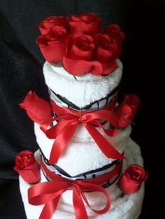 Towel Cake Vanilla 3 Tier by tendermomentsllc on Etsy, $59.95