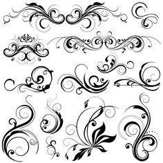 Swirly Flower Designs   brushes, curlies, design, floral, floral pattern, flourish - inspiring ...