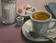 Coffee Break by Mick McGinty Coffee Cup Art, Coffee Break, Fine Art, Beverage, Paintings, Oil, Drink, Paint, Painting Art