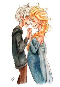Jack Frost And Elsa by MadLibbs on deviantART