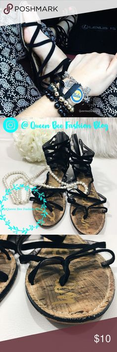 """🎀 SAM EDELMAN STRAPPY SUEDE SANDALS FLATS Super cute strappy pair. Pre-loved! 💕 Has some wear on the inside and front of the sandal. See photo, price-adjusted.    🎀""""Add to bundle"""" to add more items from my closet or """"Buy"""" to checkout now.  🎀Get to know me! 💗Showing you how to style your looks at www.Queenbeefashionblog.com SUBSCRIBE.   🎀 Let's be friends! Follow me on Instagram @queenbeefashionblog Sam Edelman Shoes Sandals"""