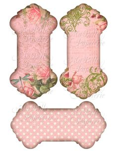 40 OFF SALE Pink Shabby Chic Roses Ribbon or door MaBellePapeterie
