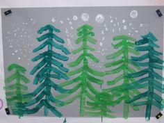 Activités faciles de dernière minute... Winter Art Projects, Theme Noel, Snow And Ice, Forest Animals, Christmas Crafts For Kids, Winter Scenes, Little People, Art For Kids, Plant Leaves