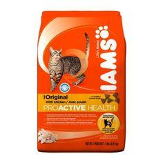 Iams Proactive Health Adult Cat Original With Chicken Premium Cat Food 2  Lbs (Pack of