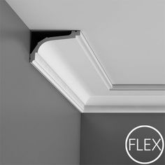 """FC220 Crown Molding, Flexible, Primed White. Face: 5-7/16"""" Length: 78-3/4"""" ____________________________ Request Your FREE Catalog: http://form.outwater.com/oracusa.php"""